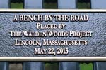 9th Bench Placement - Walden Woods (Photos by Tom Hersey)